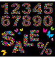 Butterfly numerals vector image