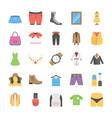 flat icons set of fashion vector image