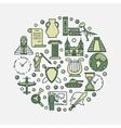 History education round symbol vector image