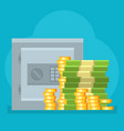 money safe deposit commercial strongbox vector image