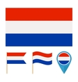 Netherlands country flag vector image
