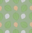 Ornate seamless pattern with the leaves vector image