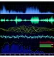 sound wave analyzer background eps 8 vector image