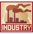 Industry poster - industrial plant vector image