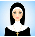 nun vector image