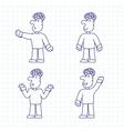 Hand Drawn Cartoon Characters vector image vector image