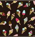 seamless pattern with doodle hand drawn ice vector image