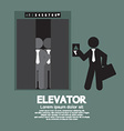 Businessman Standing With Crowded Elevator vector image