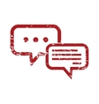 Answering red grunge icon vector image
