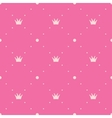 Princess pink background vector image