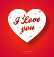 Bright Red Love Heart Banner vector image