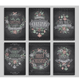 Set of Christmas cards - Chalkboard vector image