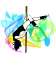 Pole dance woman vector image vector image