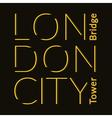 London City t-shirt vector image