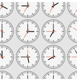Seamless clocks vector image vector image