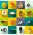 Japan icons set flat vector image