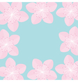 Sakura flowers Japan blooming cherry blossom set vector image