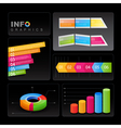 Info-graphic elements on black background vector image