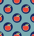 Apple pattern Seamless texture with ripe red vector image