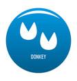 donkey step icon blue vector image