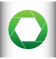 Photo sign Green gradient icon vector image
