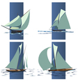Simple group of ship with sails vector image