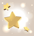 Golden starry background vector