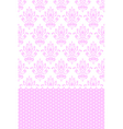 pink and white wallpaper vector image