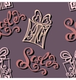Seamless Ornate Pattern with Gifts vector image