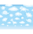 funny clouds vector image