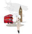 english montage vector image