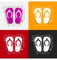 Drawing business formulas slippers vector image