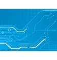 blue circuit board background vector image vector image
