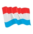 political waving flag of luxemburg vector image vector image
