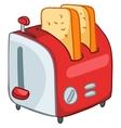 cartoon home kitchen toaster vector image