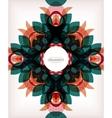 Decorative retro ornaments background vector image