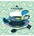 Elegant Cup of Coffee Card vector image