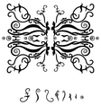 Frame with black pattern vector image