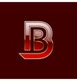 Gold Letter B Shape Logo Element vector image