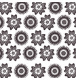gray flower decoration seamless pattern design vector image