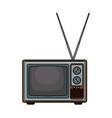 old tv technology pop art vector image