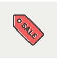 Sale tag thin line icon vector image