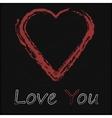 - Blackboard with Love Heart vector image