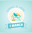 1 march - spring vector image