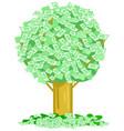 money notes tree vector image vector image