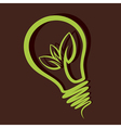 eco friendly bulb design vector image