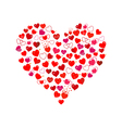 Big red heart consist of small hearts vector image