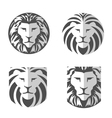 Elegant lion logo set vector image