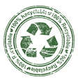 grunge stamp with recycle sign vector image vector image