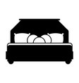 bed room symbol vector image